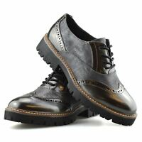 Ladies Womens New Casual Flat Office Smart Work Lace Up Oxford Brogue Shoes Size
