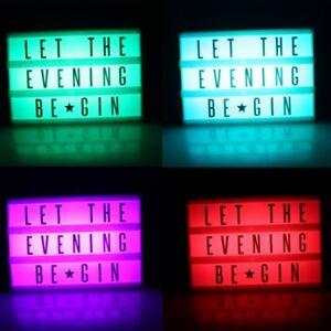 LED LIGHTBOX Leuchtbox Leuchtkasten Leuchtreklame Light Box inklusive 66 Zeichen