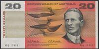 BN80) Australia 1967 $20 Coombs, Randall. UNC 1st Signature XBQ