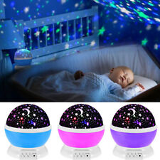 Starry Night Sky Projector Lamp Moon Star Light Rotating Cosmos Kids Baby Gift
