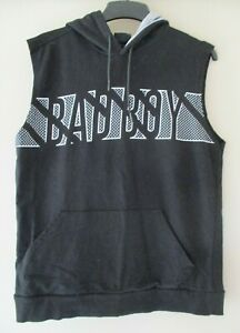 BADBOY Sleeveless Cotton Hoodie Training Black