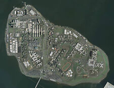 Framed Print - Aerial Photo of Riker's Island Prison New York USA (Picture Art)