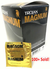 Trojan Magnum Large Condom | Pack of 48 Latex Condoms | Free 1-3 DAY SHIPPING