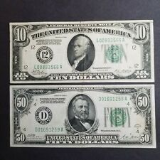 LOT OF 2 - 1928 FEDERAL RESERVE NOTES