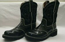 👢Woman's ARIAT Black Leather Western Cowgirl Boots 6.5 B🐎Horse Girl🎁Fast Ship
