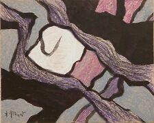 Andre Pierret dessin gouache pastel signé Bruxelles expressionnisme Paul Delvaux