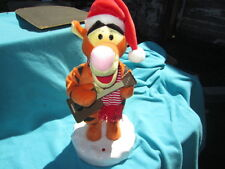 "17"" ANIMATED SINGING XMAS TIGGER WINNIE THE POOH GEMMY SANTA CLAUS IS COMING TO"