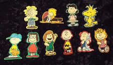 "RARE - Vintage "" Peanuts"" Gang Stickers-Set of 10 - uncommon size"