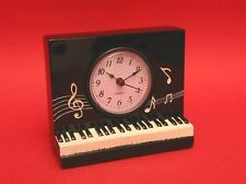 Piano Keyboard Design Desk Clock Musician Music Gift Teacher Student BOXED