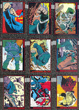 DOOMSDAY THE DEATH OF SUPERMAN 1992 BASE CARD SET & FUNERAL FOR A FRIEND SET DC