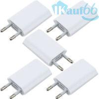 5x Ladegerät USB Stecker Netzteil Netzstecker Adapter Haus iPhone 5 5S 5C 6 PLUS