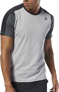 Reebok Smartvent Move Short Sleeve Mens Training Top - Grey