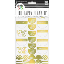 Me And My Big Ideas Create 365 Happy Planner Sticker Take Note Gold Foil