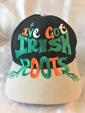 f4a8e650c99 I ve Got Irish Roots Cap Hat I Have Ireland Black Embroidered Large Fonts  Snap