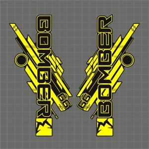 MARZOCCHI 66 BOMBER RCV FORK / SUSPENSION DECAL SET NEON YELLOW