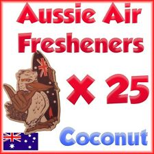 AIR FRESHENERS Coconut scent Car or home office X 25