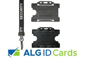 Security Guard SIA Lanyard / Neck Strap & ID Card Badge Pass Holder - FREEPOST