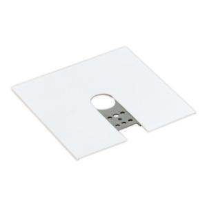 (2) Lightolier 6060WH Track Lighting End Feed Canopy Kit White