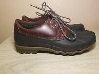 Sperry Top Sider Wetlands Black Brown Low Waterproof Rubber Duck Shoes Mens 9 M