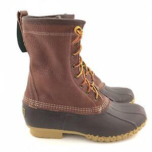LL Bean Mens Bean Boots 10 Shearling Lined