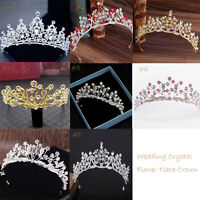 Bridal Princess Party Crystal Rhinestone Tiara Wedding Crown Veil Accessory