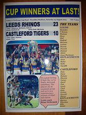 Leeds Rhinos 23 Castleford Tigers 10 - 2014 Challenge Cup final - souvenir print