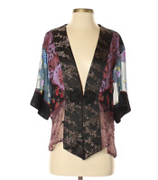 Spencer Alexis Kimono Small Cardigan Womens Lace Floral Embroidered
