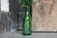 Vintage Green Milk Glass Bottle Glass Dairy Bottle Vintage Large Bottle Vase
