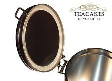 Airseal Tea Caddy Black Tin Food Airtight Storage Coffee Herb Spice Secure Lid