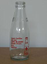 Vintage L C S Life Blood milk Bottle 1 pint