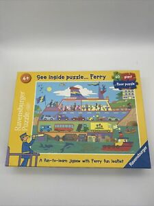 """Ravensburger """"See Inside Puzzle....Ferry"""" 60 giant piece Vgc Age 4+"""