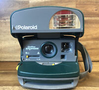 Polaroid 600 One Step Express Green Gray Instant Camera Flash TESTED Vintage