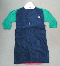 Vintage Nautica Red Blue Green Colorblock Spell Out Plush Cotton Bath Robe Mens