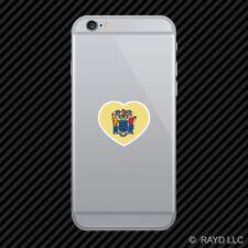 New Jersey Heart Cell Phone Sticker Mobile NJ love hearts pride native