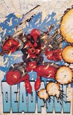 1993 Marvel Deadpool Poster  Art 34 X 22 New MINT HTF UNROLLED MOVIE Vintage