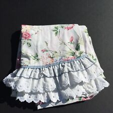 Full Sized Flat Sheet Waverly Belle Rive Floral Ruffle Eyelet