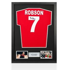 More details for framed bryan robson signed manchester united shirt 1985 fa cup final - number 7