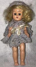 Vtg 1950's Virga? Lucy or Ginny Clone 9� Hard Plastic Walker Doll w/ Sleep Eyes