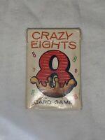 VINTAGE CRAZY EIGHTS MINI CARD GAME - FULL DECK  W/ BOX NOS Whitman W/ rule card