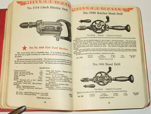 VTG 1938 MILLER FALLS/GOODELL-PRATT CATALOG! HAND TOOLS/ELECTRIC DRILL/MEASURING