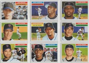 2005 TOPPS HERITAGE New York Mets Team Set w/SPs (17 Cards) - NM/MT