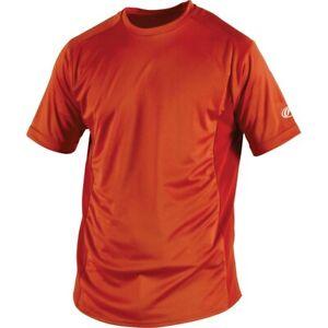 Rawlings Adult Pro-Dri Short Sleeve Performance Shirt BURNT ORANGE SM