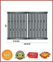 """	15 Inch BBQ Grill Cooking Grates Grid 2pcs for Weber Spirit 200, 500 Silver A"""
