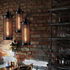 Industrial Black Retro Style Vintage Hanging Ceiling Light Flute Pendant Lamp