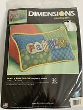 Dimensions Needlepoint Family Fun Pillow #20020 New