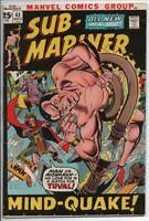Marvel Comics  The Sub-Mariner #43 Nov. 1971 Tuval and the Tiger Shark FN-