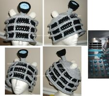 Custom boutique Crochet Dr. Who Dalek Hat Beanie Costume