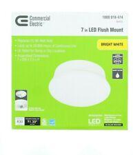 Spin Light LED Flush Mount Ceiling Light, 7 Inch, 11.5W 4000K Bright White
