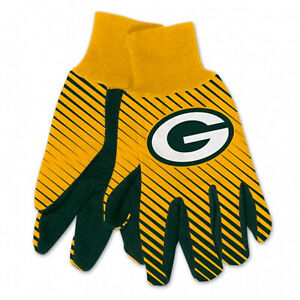 NEW Football Green Bay Packers Protective Utility Gripped Gloves Licensed