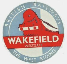 More details for british railways luggage label - the west riding - wakefield westgate